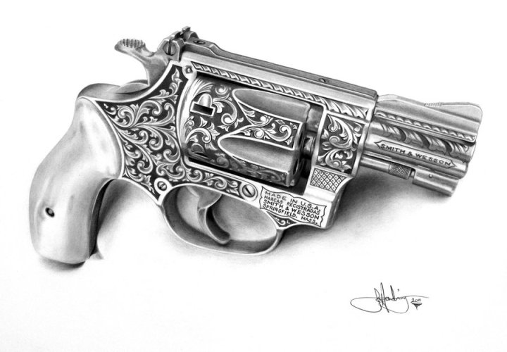 Smith and Wesson revolver by portraitz